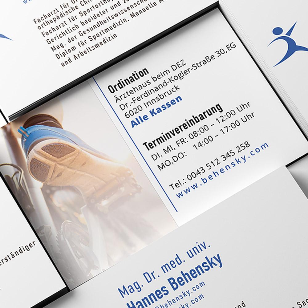 Portfolio LokalLemons Ansbach Werbeagentur - kreatives Visitenkarten Design