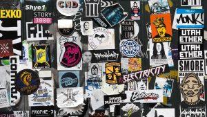 Stickerwand